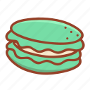 bakery, dessert, food, macaron, pastry, sweet, tasty icon