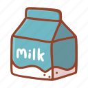 milk, bakery, food, cooking, ingredient, doodle, dessert