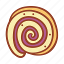 tasty, bakery, food, sweet, roll cake, doodle, swirl
