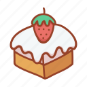 bakery, food, cake, strawberry, sweet, cream, tasty