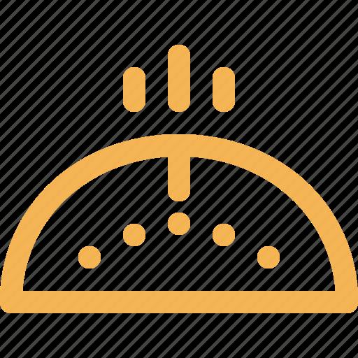 bakery, bun, food, hot, outline icon