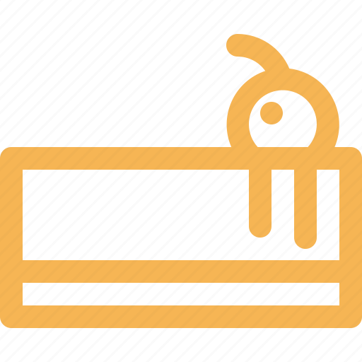bakery, cake, dessert, food, outline icon