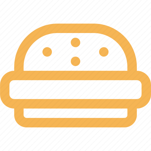 bakery, fast food, food, hamburger, outline icon