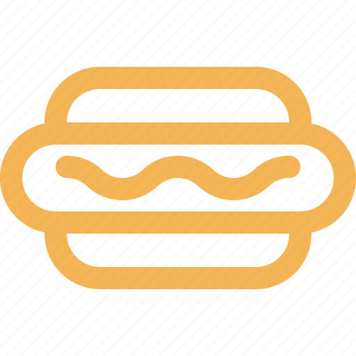 bakery, dessert, fast food, food, hotdog, outline, sausage icon