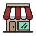 business, corner store, grocery store, market, outlet, shop, shopping icon