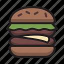 burger, cheeseburger, cook, cooking, fastfood, food, hamburger icon