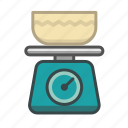balance, cooking, kitchen, kitchen scale, scale, scales, utensil icon