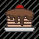 chocolate, dessert, food, kitchen, pancake, sweet, toothsome icon