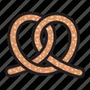 cookie, cooking, dessert, food, kitchen, pretzel icon