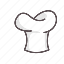 cap, chef, cook, hat, kitchen, restaurant, toque icon