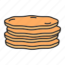 tortilla, flatbread, food, bakery, bread, pita, pancakes icon