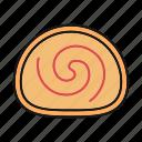 bakery, cake, dessert, jelly roll, sponge cake, swiss roll