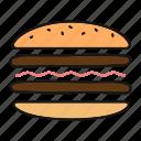 american, burger, cheeseburger, cooking, fast food, hamburger, sandwich