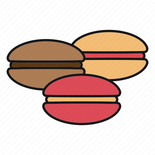 biscuit, cookie, dessert, french, macarons, macaroons, pastry icon