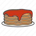 american, breakfast, food, griddle cakes, hotcakes, pancakes, syrup icon