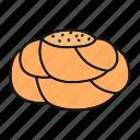 bakery, bread, bun, dough, fancy bread, pastry, yeast