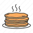 american, breakfast, food, griddle cakes, hot, hotcakes, pancake icon