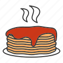 american, breakfast, food, griddle cakes, hot, hotcakes, pancakes icon