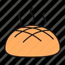 bakery, bread, bread loaf, food, fresh, hot, rye
