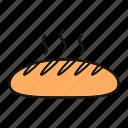 bakery, bread, bread loaf, food, fresh, hot, long loaf