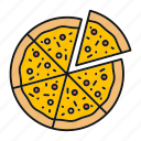 bakery, cuisine, fast food, italian, pizza, pizzeria, slice icon