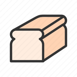 bake, bread, flour, meal, slice, sliced, wheat icon