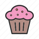 baked, bakery, breakfast, cupcake, muffin, pastry, sweet icon