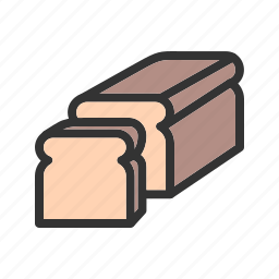 bake, bread, flour, meal, slice, sliced, wheat icon