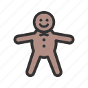 baked, bakery, biscuit, cake, cookie, gingerbread, sweet icon