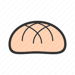 bread, bun, food, hamburger, round, tasty, yeast icon