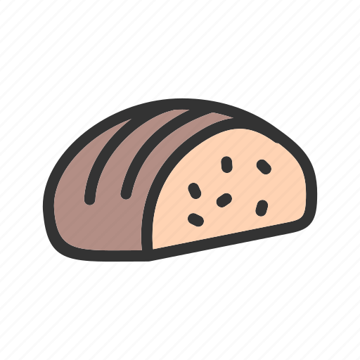 bread, flour, loaf, meal, slice, sliced, wheat icon