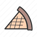 crust, delicious, dessert, food, homemade, pie, slice icon
