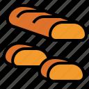 baguette, pieces icon