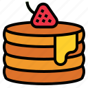 pancake, strawberry icon