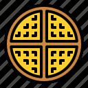 wafer, waffle, wafflesweet icon