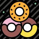 and, dessert, donut, donuts, doughnut, food, restaurant icon