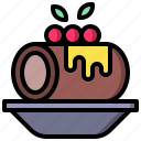 and, bakery, cake, dessert, food, restaurant, roll icon