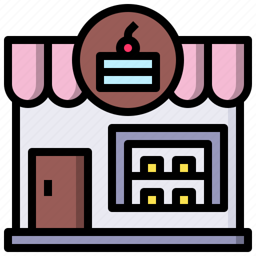 and, architecture, bakery, buildings, city, shop, store icon