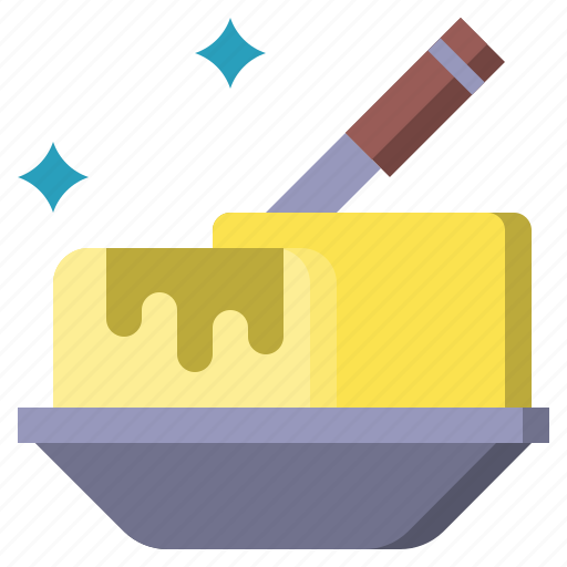 and, butter, food, kitchen, pack, restaurant, tools icon