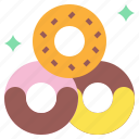 and, dessert, donut, donuts, doughnut, food, restaurant icon