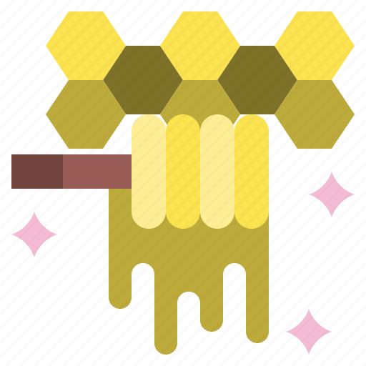 and, bee, food, honey, jar, organic, restaurant icon