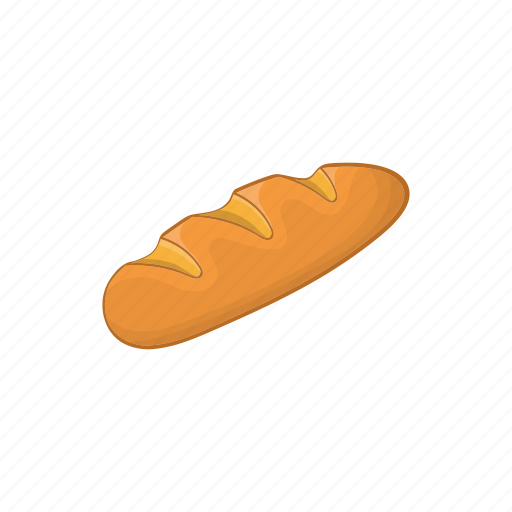 bakery, bread, cartoon, crust, food, loaf, wheat icon