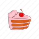 cake, candle, cartoon, delicious, dessert, food, sweet icon