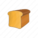 bakery, bread, cartoon, food, healthy, loaf, wheat icon