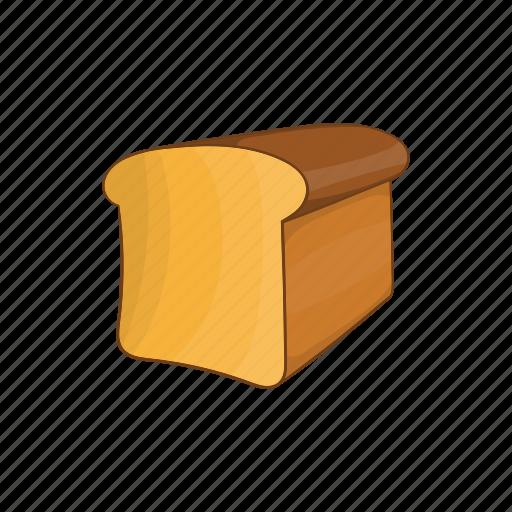 bakery, bread, cartoon, food, healthy, loaf, wheat icon