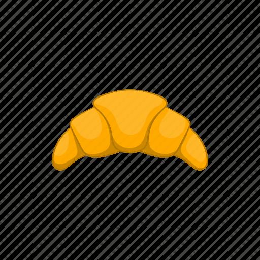 bakery, breakfast, cartoon, croissant, food, snack, vector bread icon