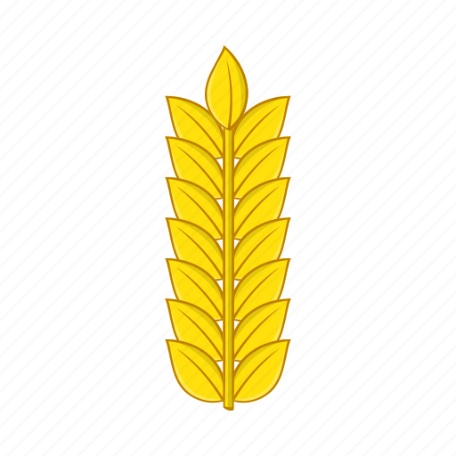 agriculture, cartoon, grain, nature, plant, seed, wheat icon