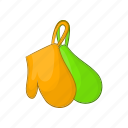 cartoon, cooking, glove, hot, kitchen, mitten, oven icon