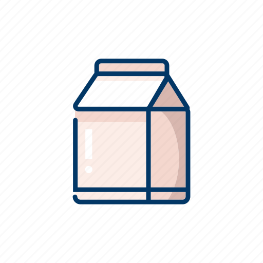 drink, fresh, healthy, milk, package icon