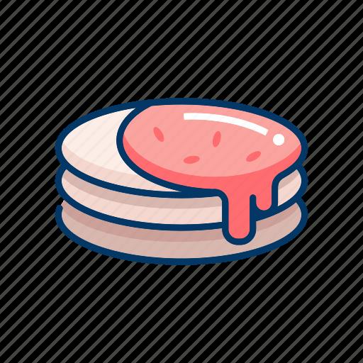 dessert, pancake, sweet, syrup, topping icon